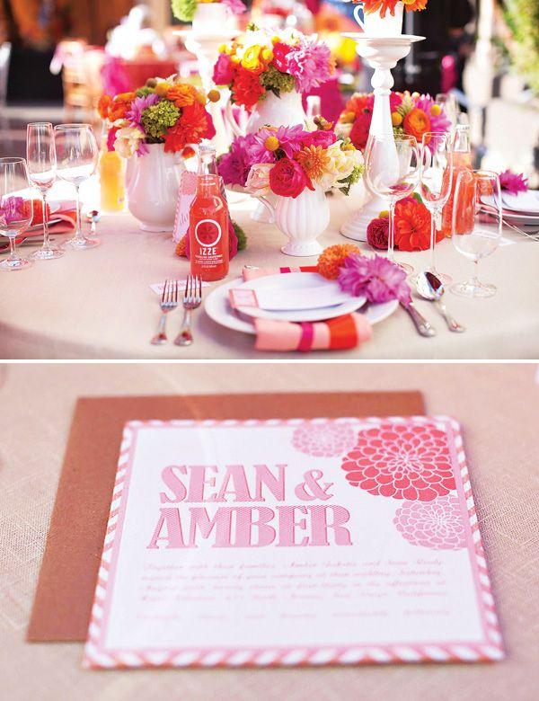 Wonderlandia Table 3 Pink  Orange TeaInspired Wedding