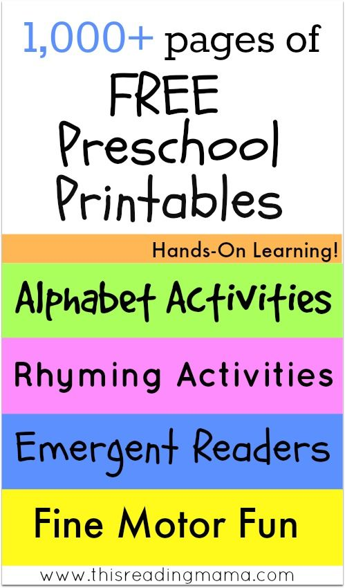FREE Printables and Learning Activities | Free preschool ...