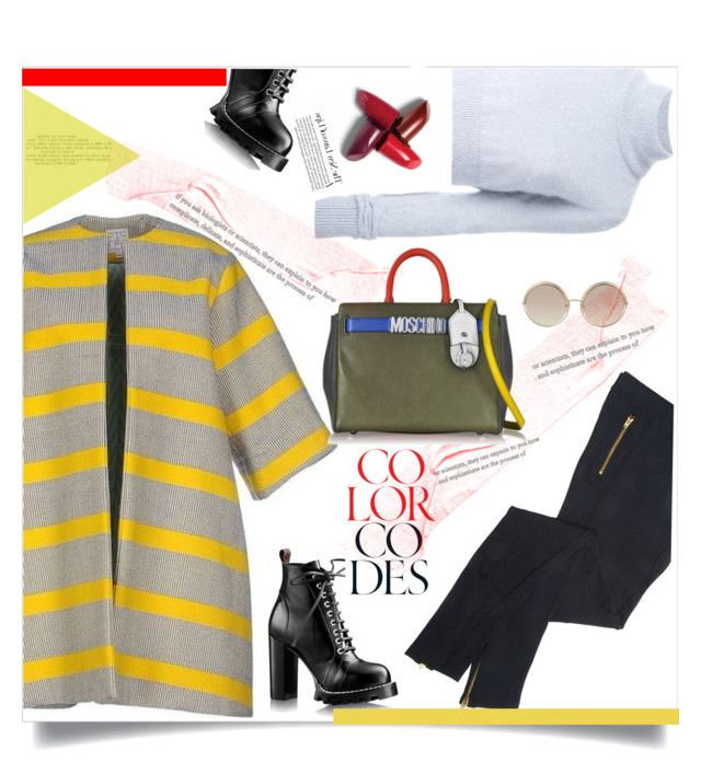 """""""Untitled #245"""" by d-meggy ❤ liked on Polyvore featuring Stella Jean, Balmain, Marc Jacobs and Moschino"""