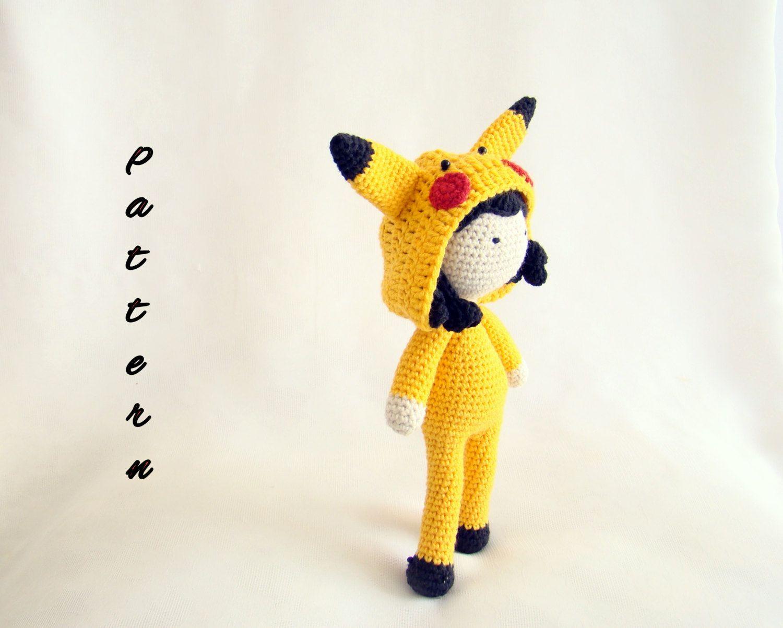 Amigurumi Patterns Pikachu : Mia the pikachu pokemon pikachu pikachu doll amigurumi pikachu