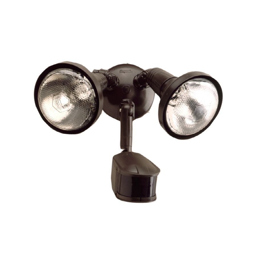 Lumark 240 Degree 2 Head Bronze Halogen Motion Activated Flood
