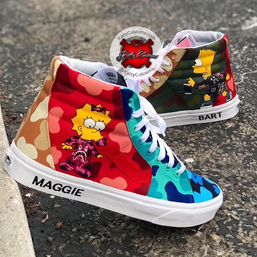 "Katty Customs on Instagram: ""Custom Bart & Maggie Bape"