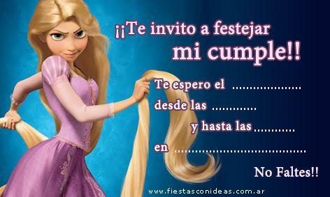 Tarjeta de cumpleaños de rapunzel-enredados-tangled   Cumpleaños ...