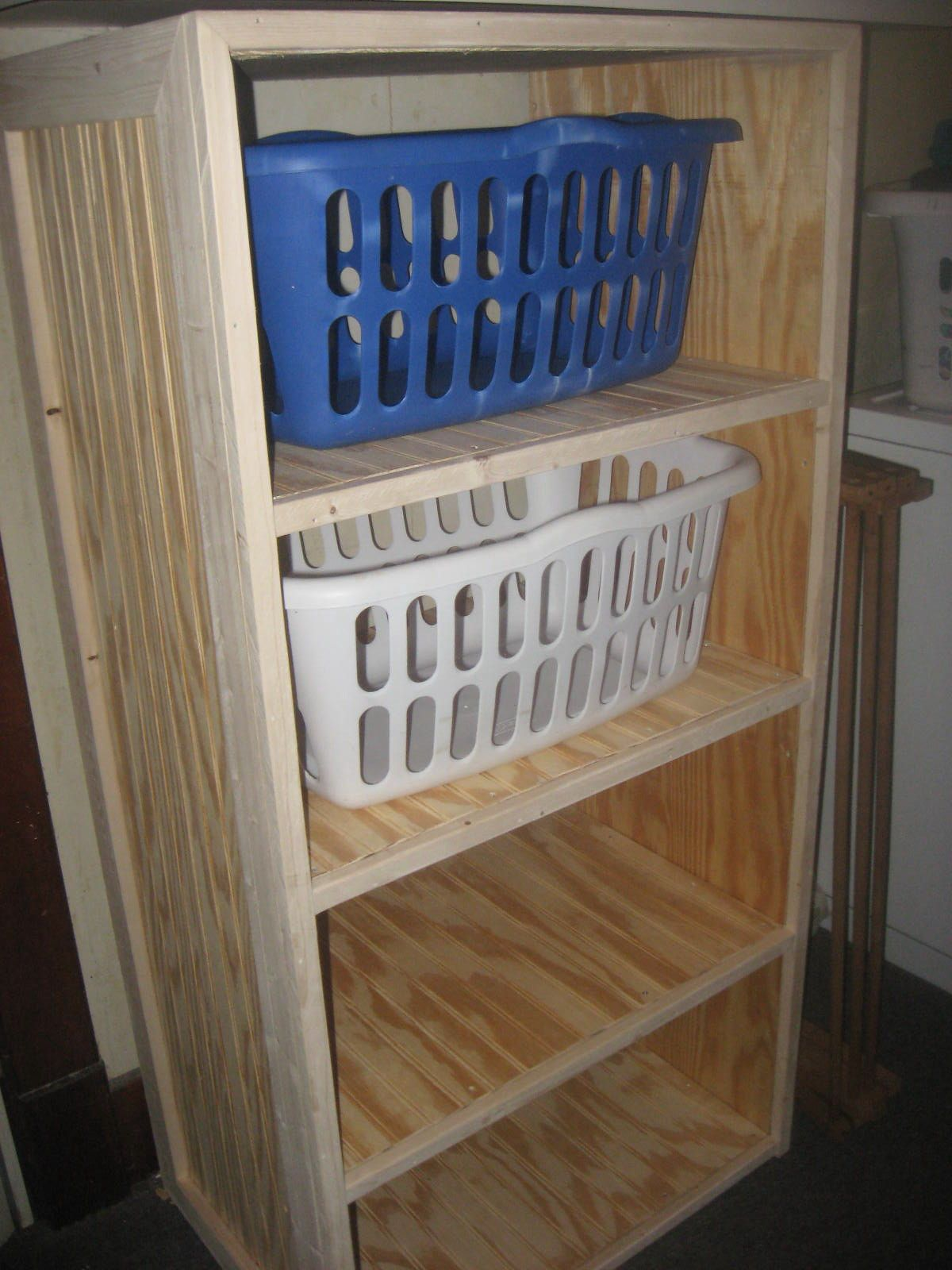 Diy Laundry Basket Shelves Laundry Basket Dresser For