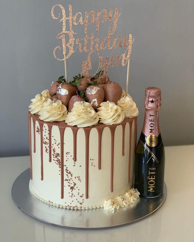 Champagner Schokoladenkuchen In 2020 Mit Bildern Kuchen Und Torten