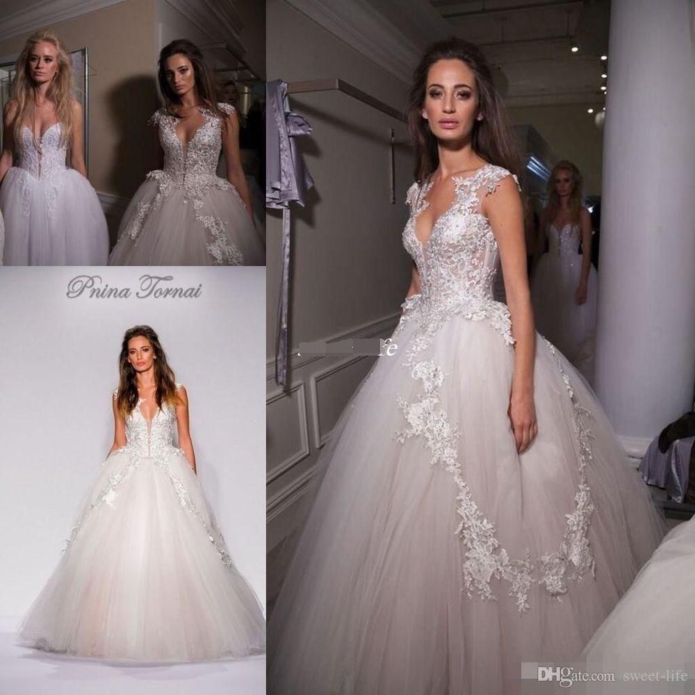Gorgeous Applique Long A Line Wedding Dress Bridal Gown Custom Size 2 4 6 8 10