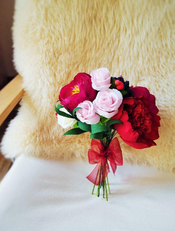 Papier Blumenstrauss Brautstrauss Hochzeit Von Amelilovelycreations