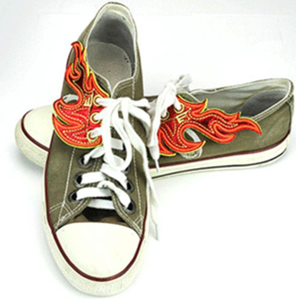de7e68598750bd Burn up the pavement with these flames for your shoes from Shwings