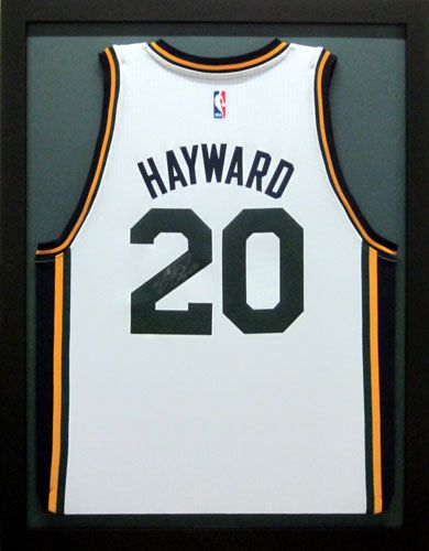 Gordon Hayward Utah Jazz Signed Jersey. Just outstanding this year. Framed  by Frameworks of Utah. a3bed9b5c