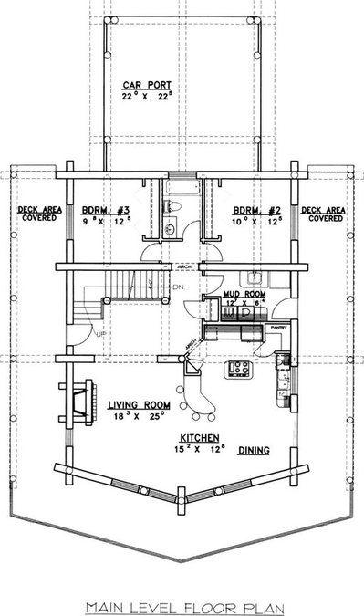 3 Bedroom, 3 Bath A-Frame House Plan - #ALP-04YZ