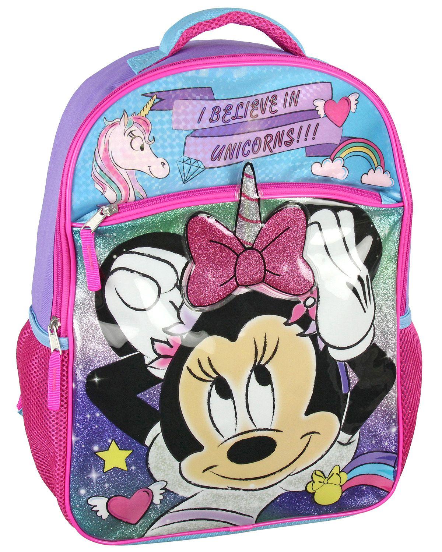 Bioworld Disney Minnie Mouse I Believe In Unicorns 16 Backpack Walmart Com Minnie Mouse Backpack Backpacks Minnie Mouse