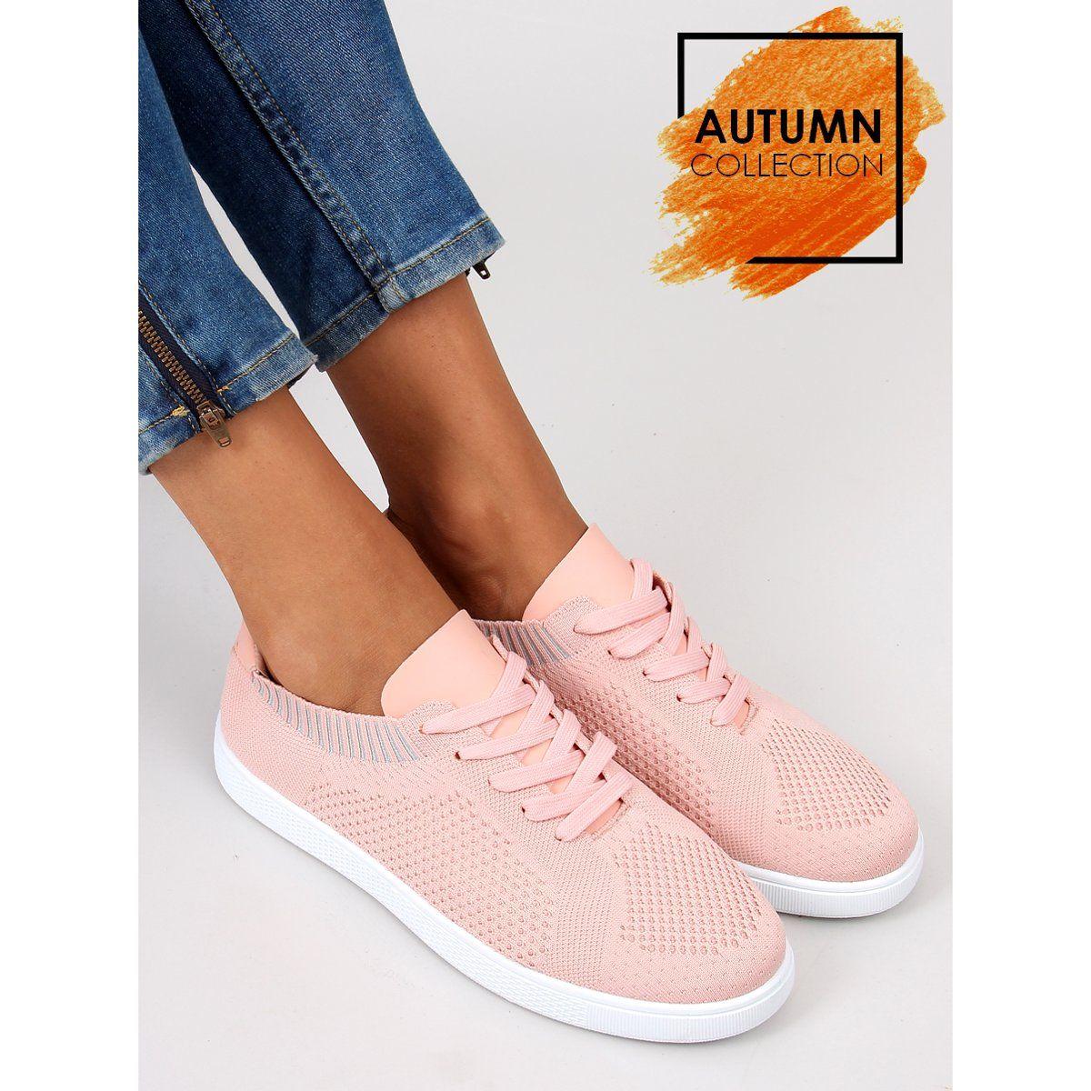 Trampki Skarpetkowe New Style Lz 9826 Pink Rozowe Zapatos