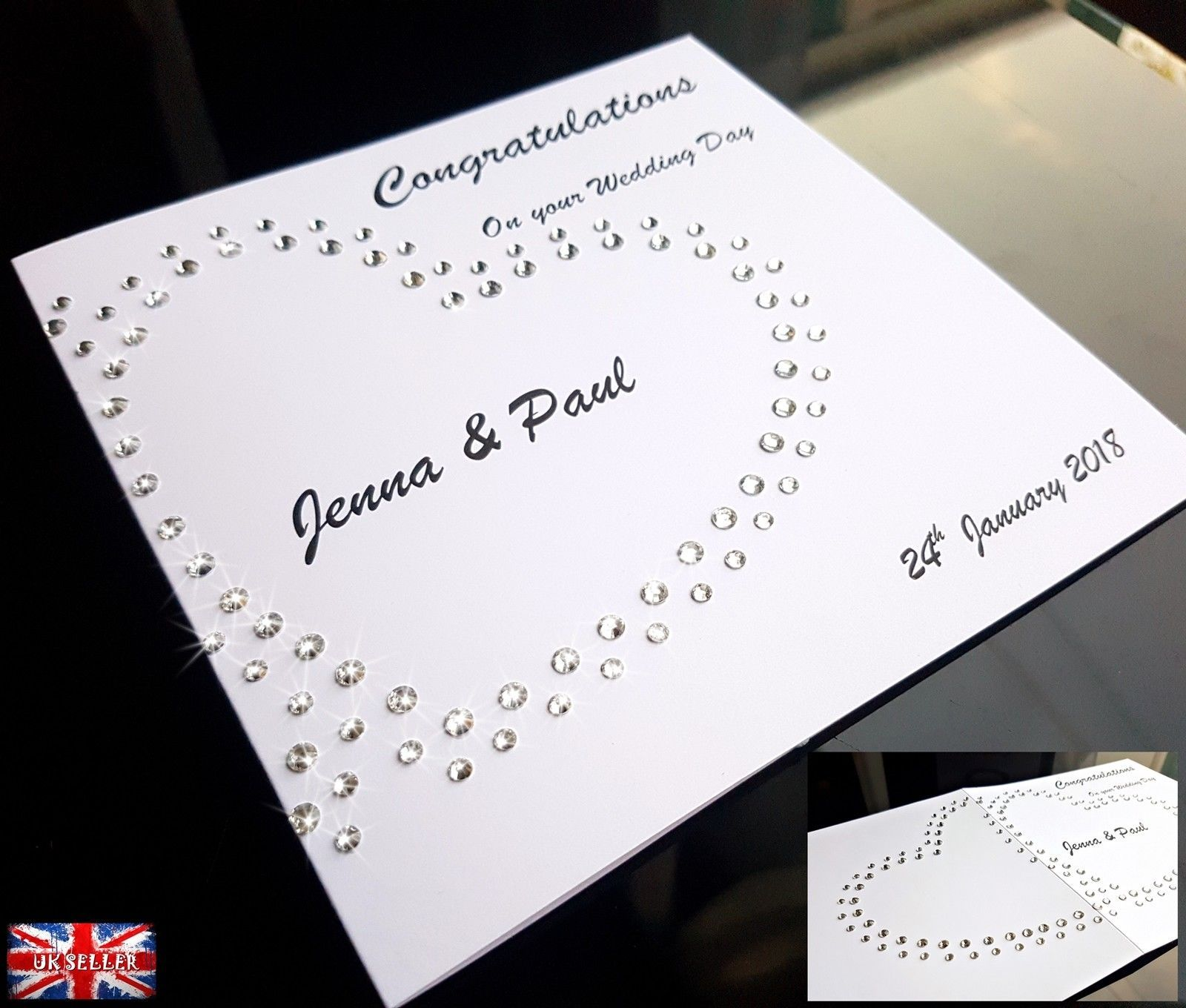 gbp handmade personalised wedding anniversary card husband