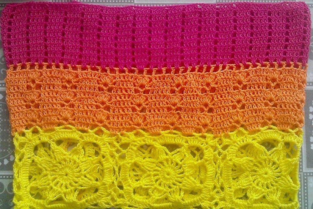 Vestido de Crochê Colorido. / Crochet Colorful Dress.