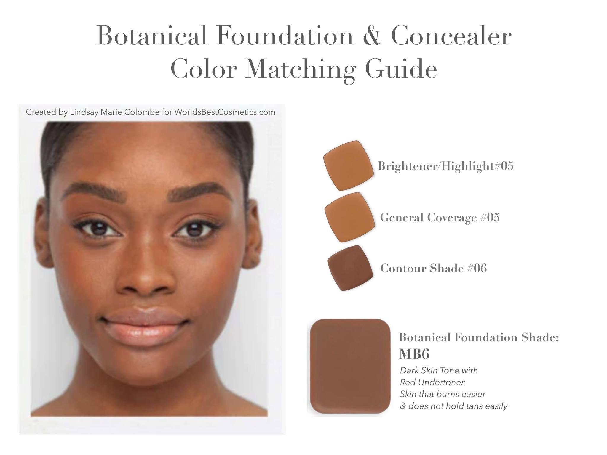 LimeLife foundation color matching help Botanical