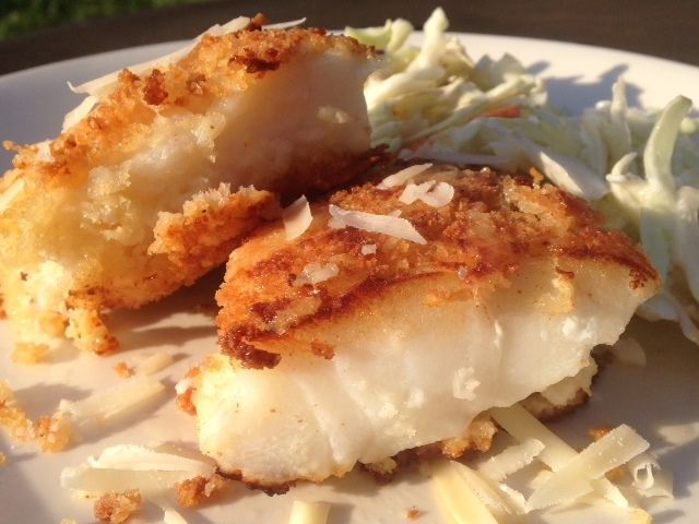 Parmesan And Panko Encrusted Cod Recipe Yummly Recipe Panko Crusted Cod Recipes Crockpot Fish Recipes