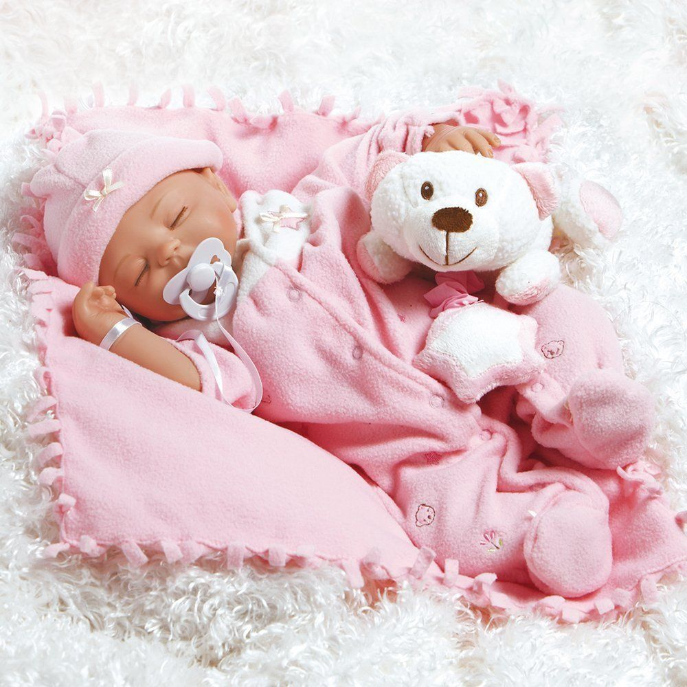 Newborn Baby Doll Weighted Body Hand Painted Girl Lifelike