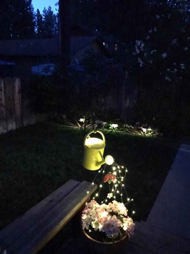 Watering Can With Lights Video Garden Lighting Diy