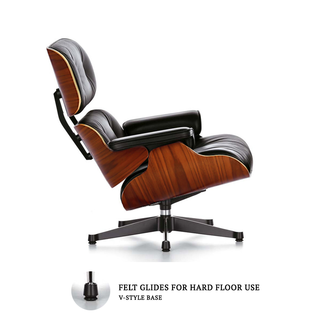 Marvelous Eames Style Lounge Chair Ottoman Black Cabin Stuff Beatyapartments Chair Design Images Beatyapartmentscom