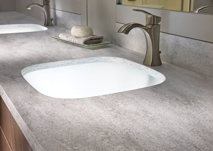 Corian Countertop With Sink | Arrowroot Corian Sheet Material | Buy  Arrowroot Corian