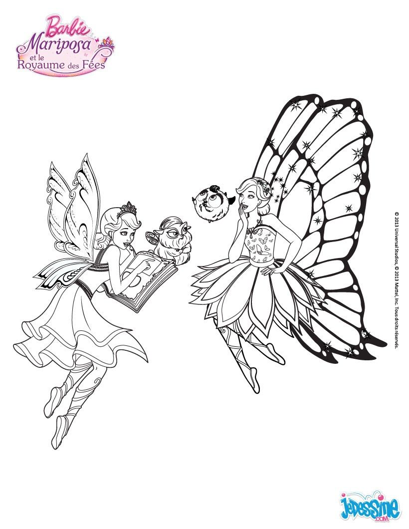 Coloriage Barbie Catania et Mariposa