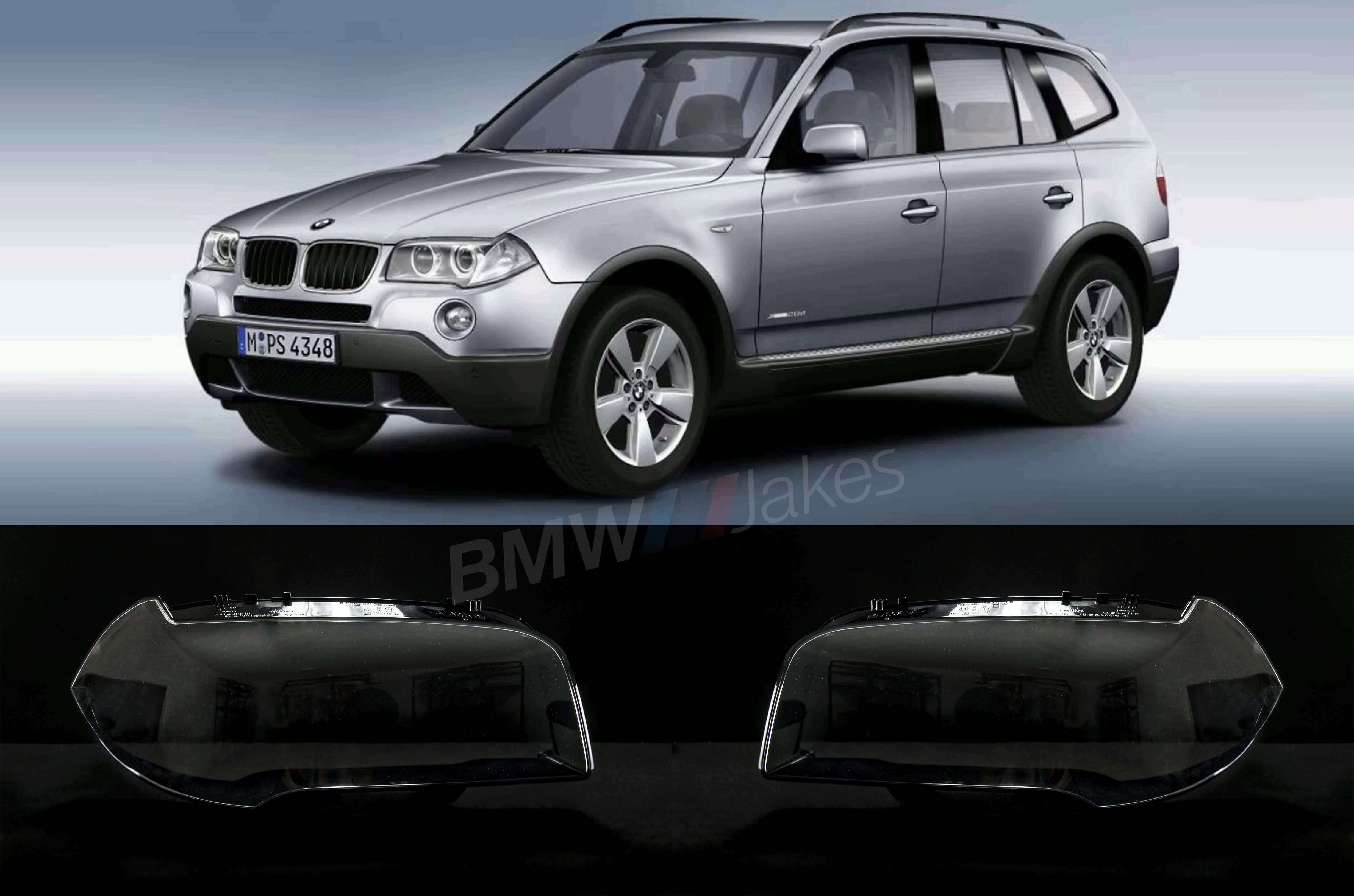 Bmw X3 E83 2004 2009 Headlight Lens Covers Aftermarket Top Quality Bmw X3 E83 Bmw X3 Headlight Lens