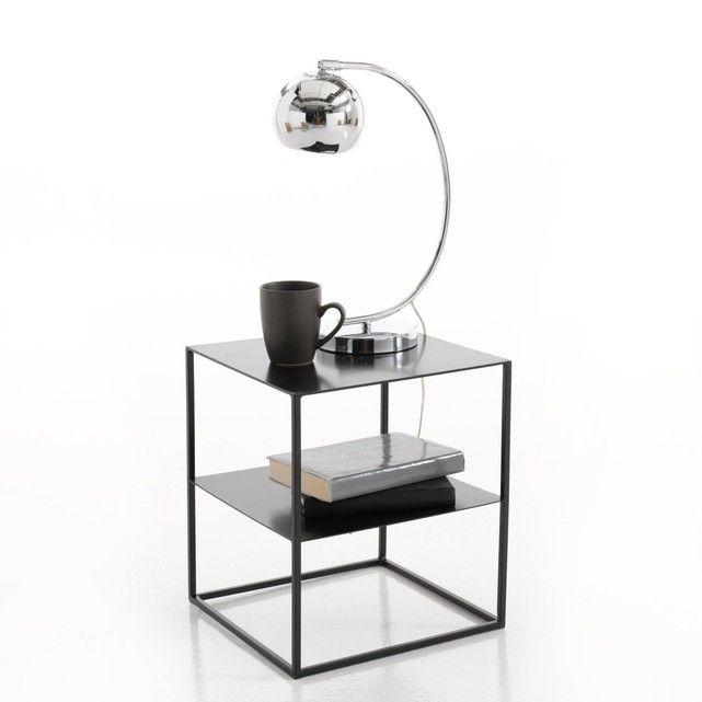 Janik 2 Tier Metal Bedside Table Metal Bedside Minimalist Bedside Table Iron Bedside Table
