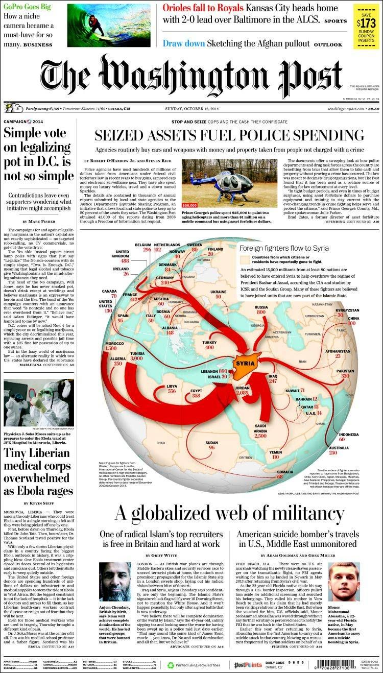Foreign fighters flow to Syria: The Washington Post (USA)