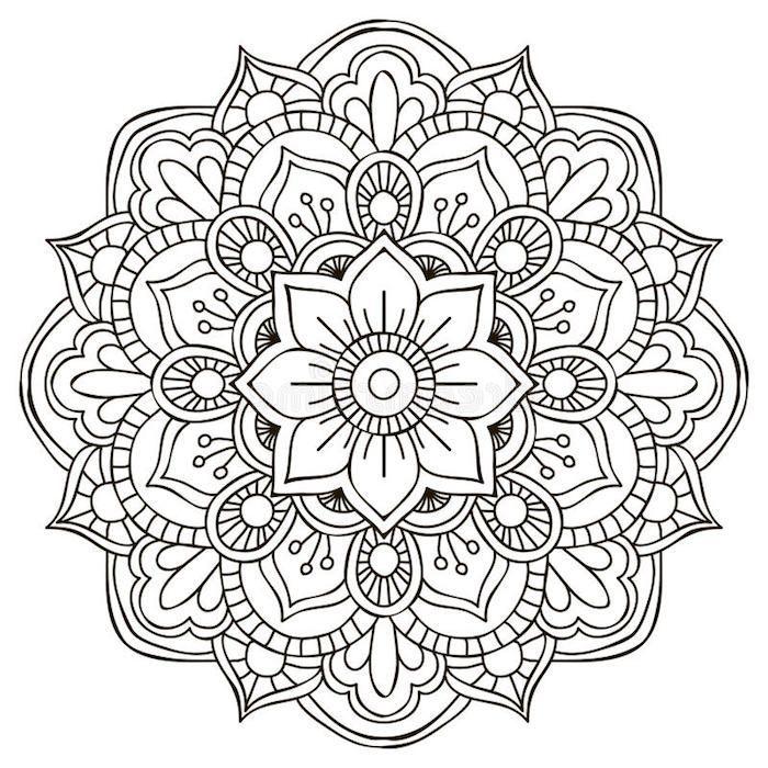 ▷ 1001 + coole Mandalas zum Ausdrucken und Ausmalen – große blume, schablone …