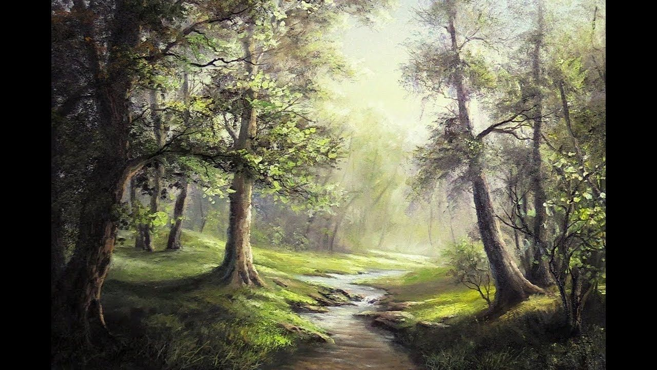 Are You Fascinated By Forest Landscapes Where The Sunlight Is Shining Through And Highlighting The Kevin Hill Paintings Oil Painting Landscape Forest Painting