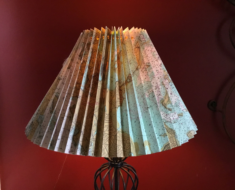 Nautical Lamp Shade Map Lampshade Lampshade Cover Lampshade Slip Cover By Artseadesignstudio On Etsy Nautical Lamp Shades Cover Lampshade Lamp Shade