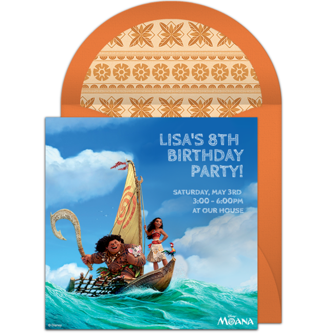 FREE Disney Invitations That You Can Send Online For Free We Are Loving This Awesome Moana Themed Digital Invite