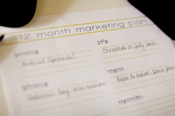 12 month marketing calendar Photography Pinterest Office