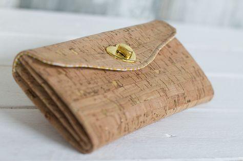 Geldbörsen aus Kork | Für mich | Pinterest | Nähen, Geldbörse nähen ...