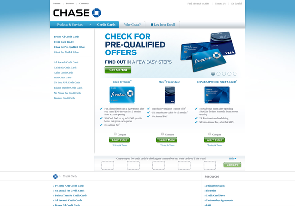 Http Creditcards Chase Com Via Url2pin Compare Credit Cards Compare Cards Rewards Credit Cards