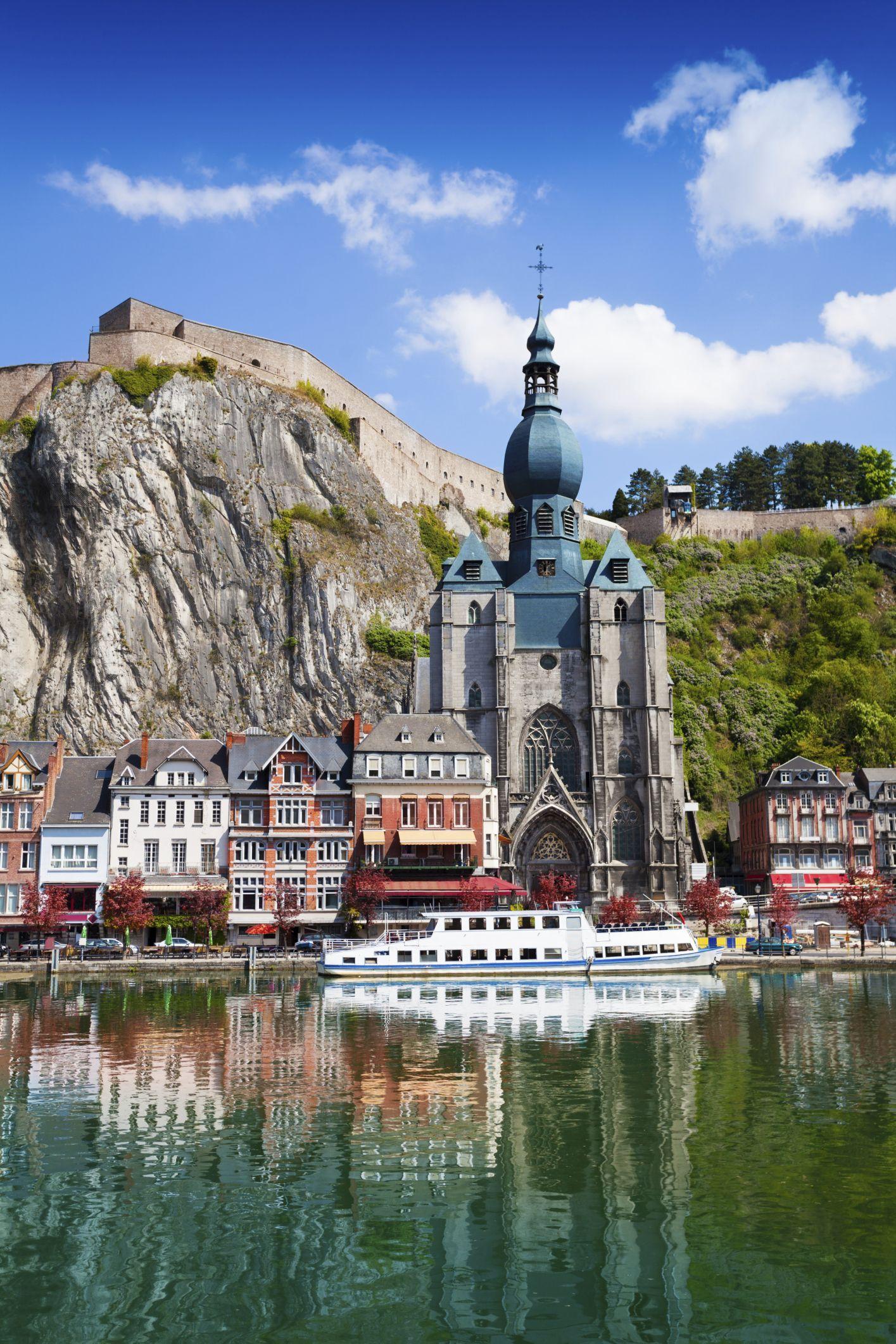 Dinant Collegiate Church on Meuse river - Belgium