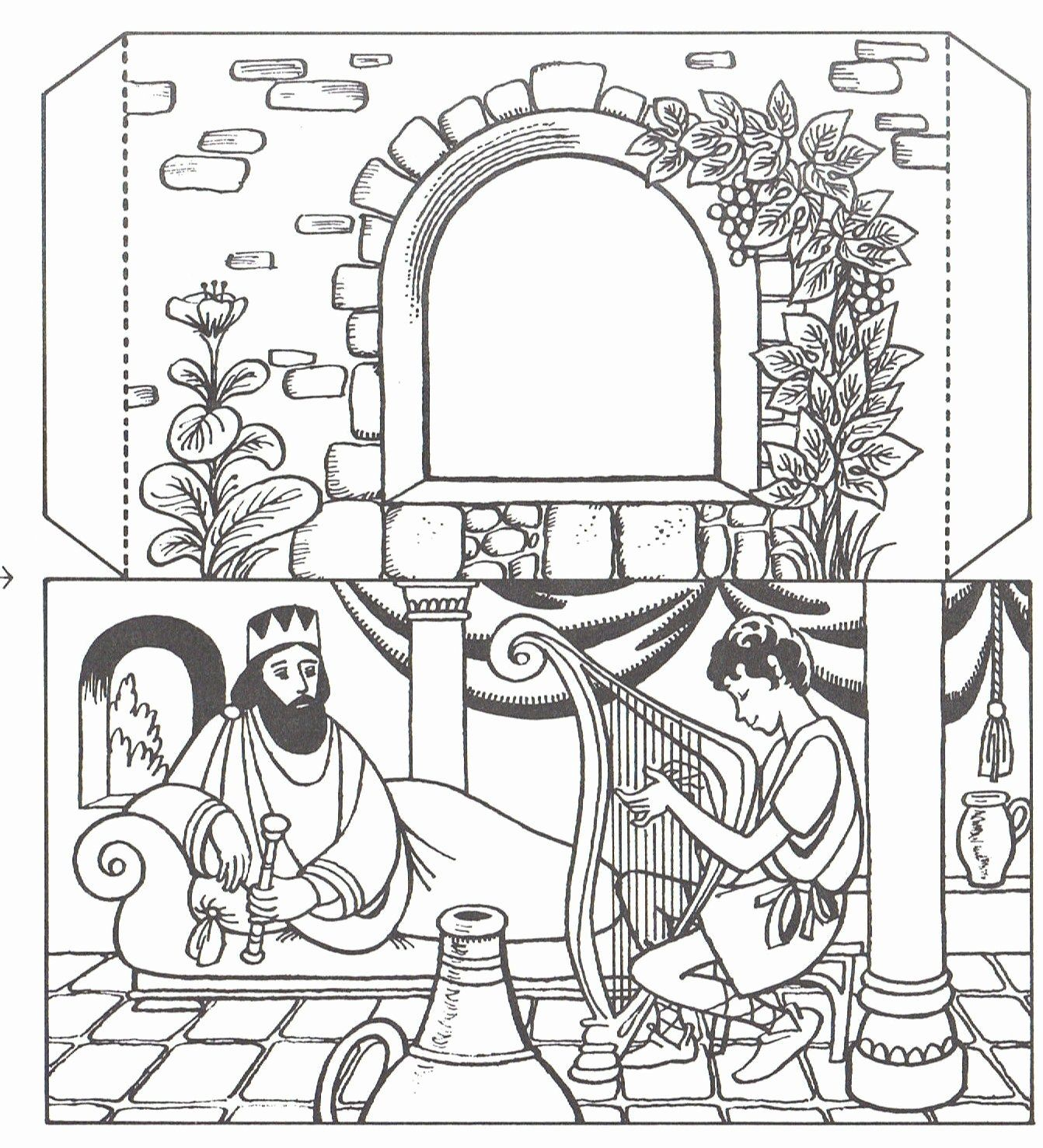 24 David And Jonathan Coloring Page In 2020 Bible Crafts