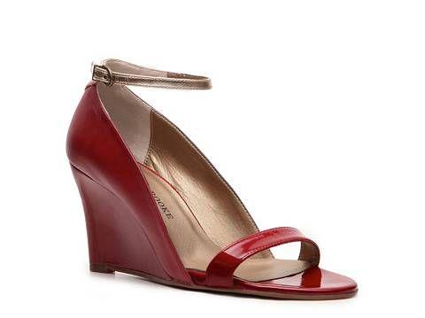 Audrey Brooke Tobago Wedge Sandal Peep Toes Pumps & Heels Women's Shoes - DSW