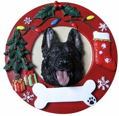 Black German Shepherd Ornament Personalized With Your Etsy German Shepherd Gifts Dog Ornaments Christmas Ornaments