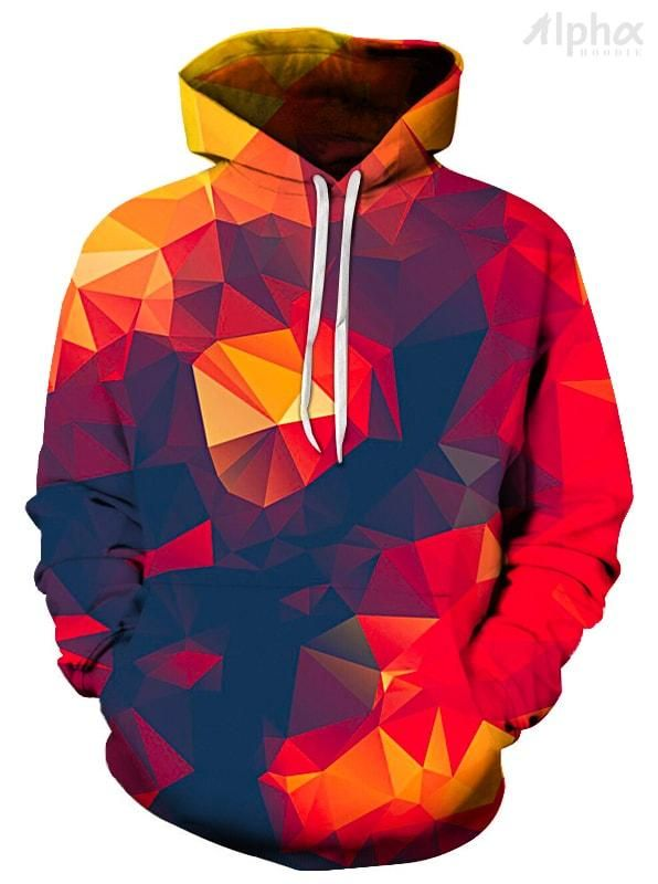 49c2e593b5b8 BOR POLYGONS UNISEX HOODIE - Shop 3D Graphic All Over Print Hoodies for Men  and Women. Our Cool Hoodies Include Space Hoodies