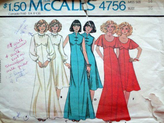 77a4e47f9da70 Vintage 70 s McCall s 4756 Sewing Pattern
