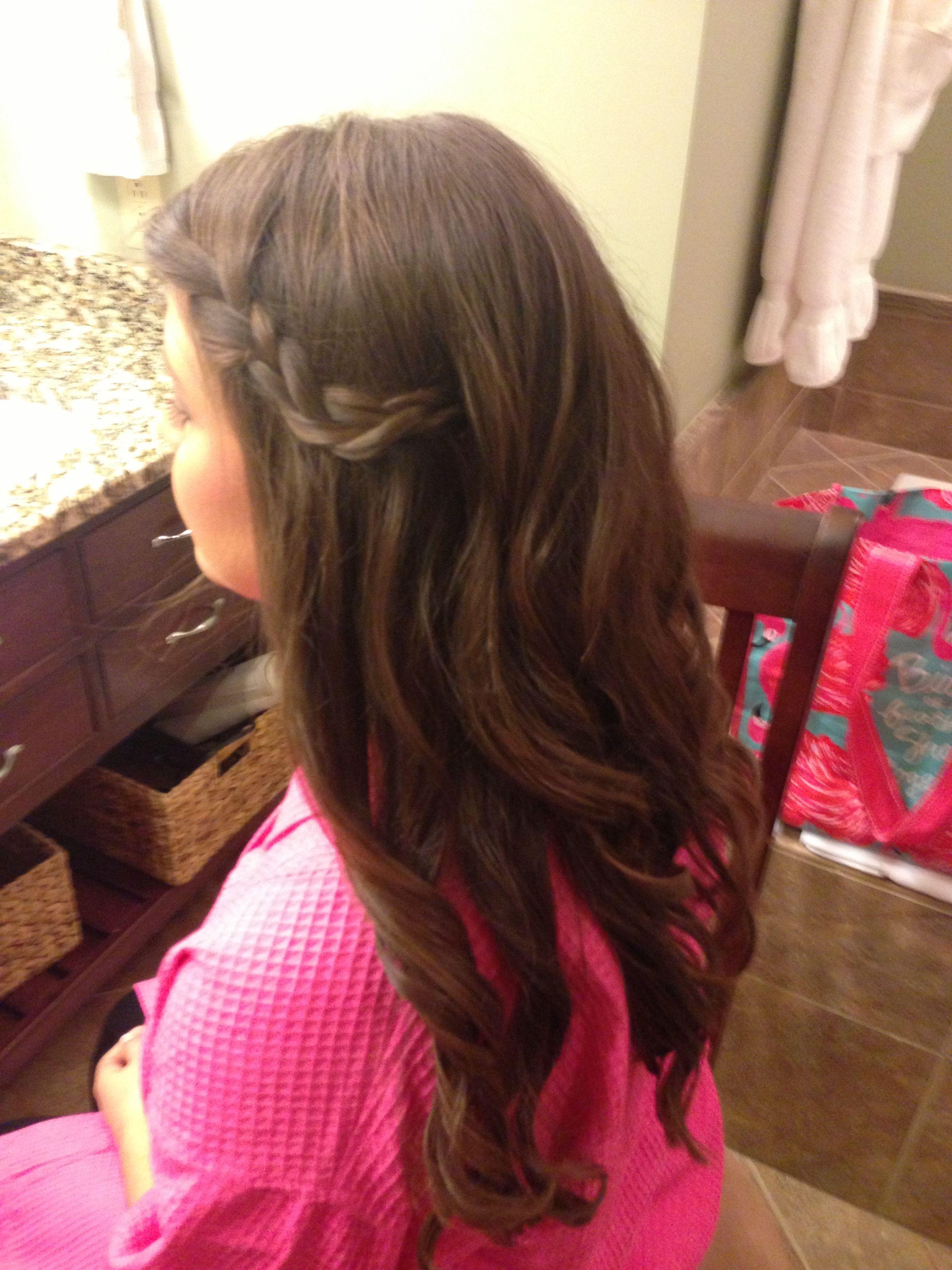 Simple side braid and curls hairstyles pinterest braid hair