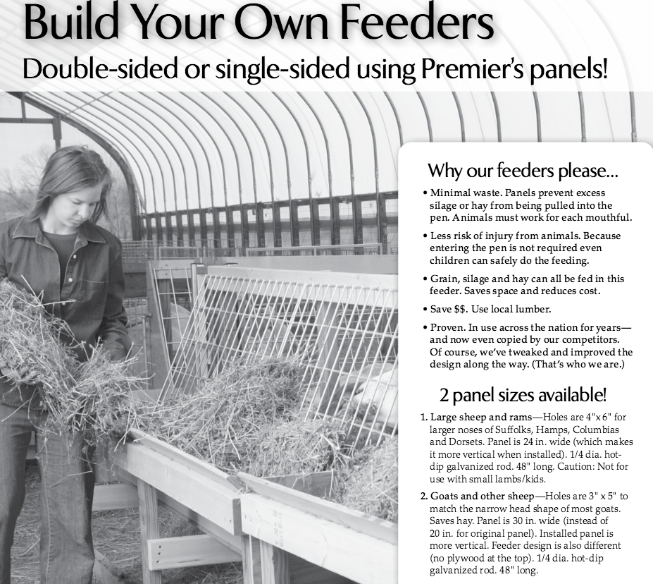 PDF Download for plans    Single or double sided hay feeders for