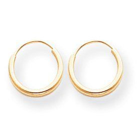 Se183 Endless Hoop Earrings 14k Yellow Gold Small S Size Baby