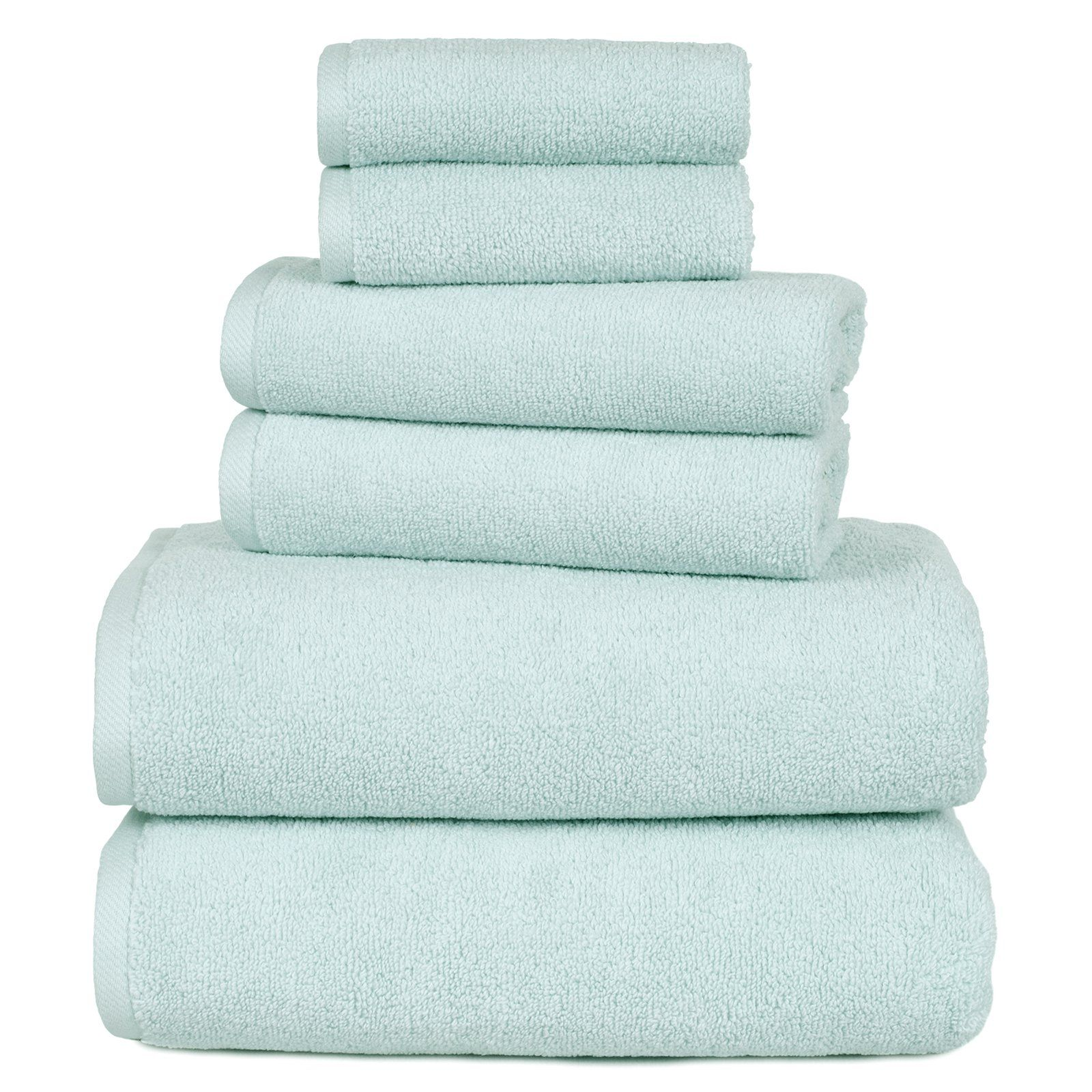 Lavish Home 100 Egyptian Cotton Zero Twist 6 Piece Towel Set