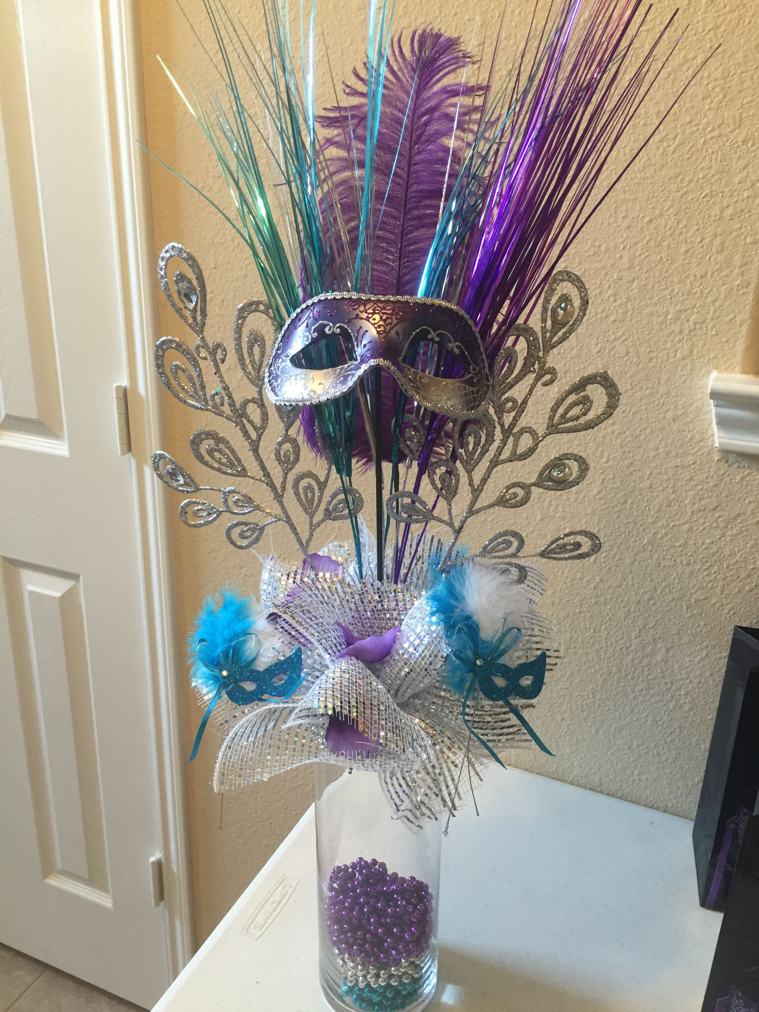 Masquerade party centerpieces ideas pinterest