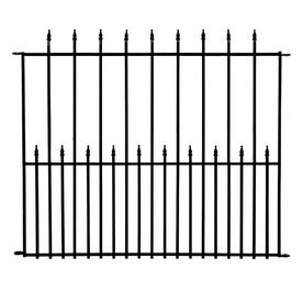 No Dig 40 In X 49 In Powder Coated Steel Fence Panel