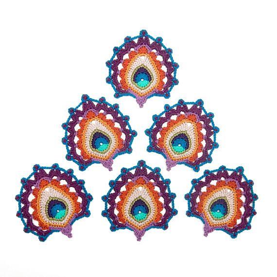 NEW Crochet PATTERN Peacock Feather Art Nouveau | C para 2res ...