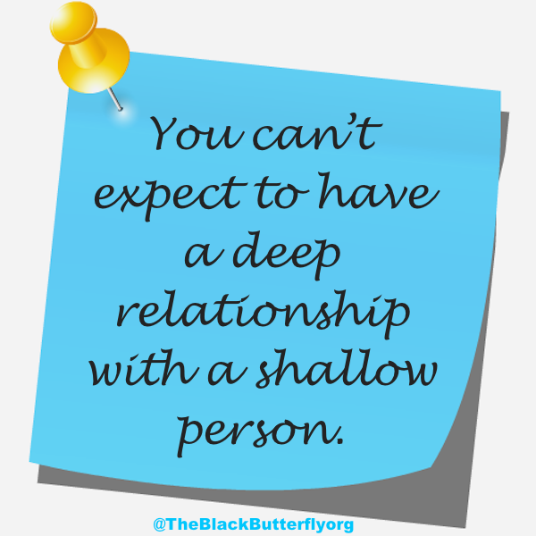 when a person is shallow