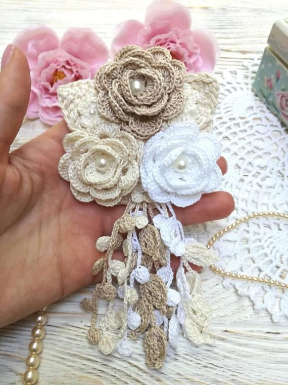 Crochet flowers /crochet bouquet /crochet roses